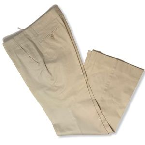 Theory Low Rise Boot Cut Beige Pants Size 2